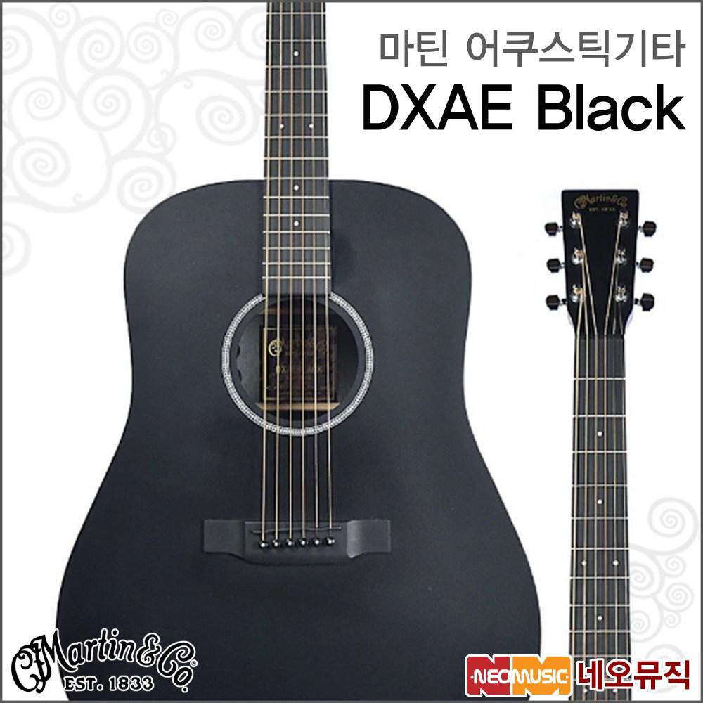 마틴 어쿠스틱 기타M Martin X Series DXAE Black, 마틴 DXAE Black_M