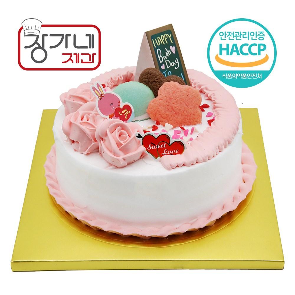 장가네제과 케익재료세트 생일케이크만들기(2호)(초코시트), 1set