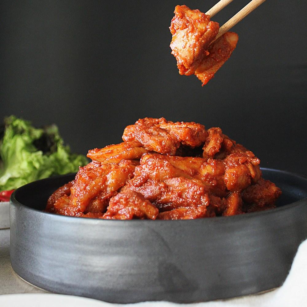 또또푸드 국내산냉장 춘천식 닭갈비 2kg (500gx4팩) 닭다리살+추가양념증정, 4팩, 500g