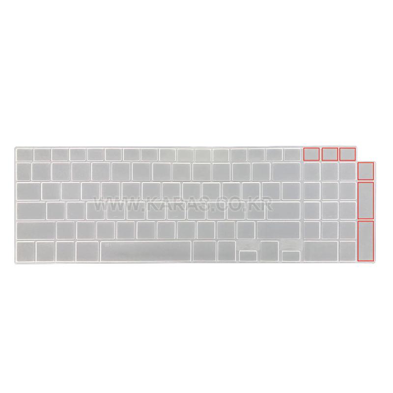 실리스킨 파인스킨 컬러스킨 LG 2020 그램17 17Z90N-VA70K 키스킨 17인치 키보드(숫자 4열), 1개, 실리스킨(반투명)