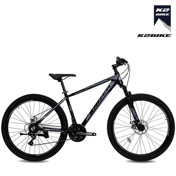 K2BIKE 2021 26인치 MTB자전거 로건2.1D 시마노21단 디스크 MTB 자전거, 로건2.1D 26인치 블랙+그레이 미조립+소형공구