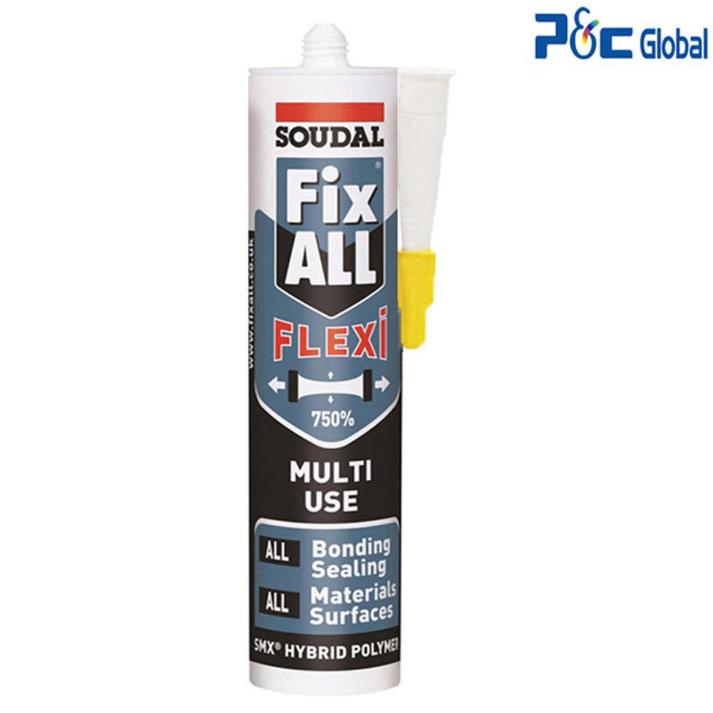 수달 픽스올 플렉시 백색 냄새없는 750% 고탄성 방수 강력접착실리콘, 1개
