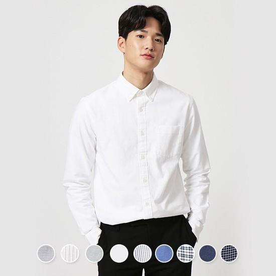 [지오다노] 049301 코튼 옥스포드 셔츠
