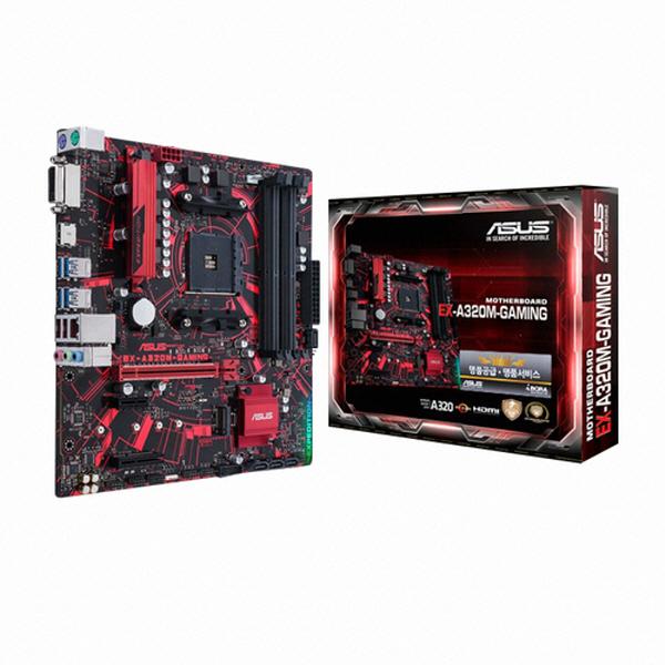 ASUS EX A320M-GAMING 메인보드 (AM4 DDR4 M-ATX) 아이보라, 선택하세요