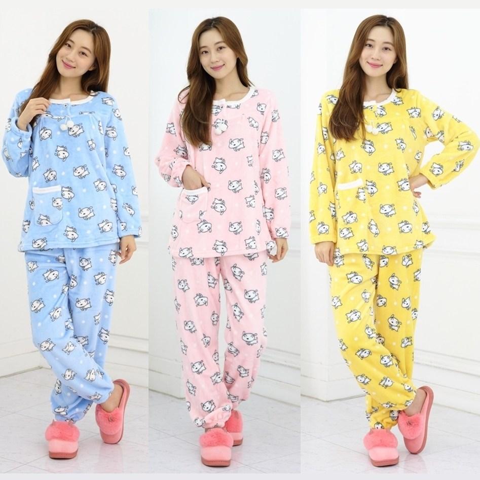 [오지다] 밍크 수면잠옷세트