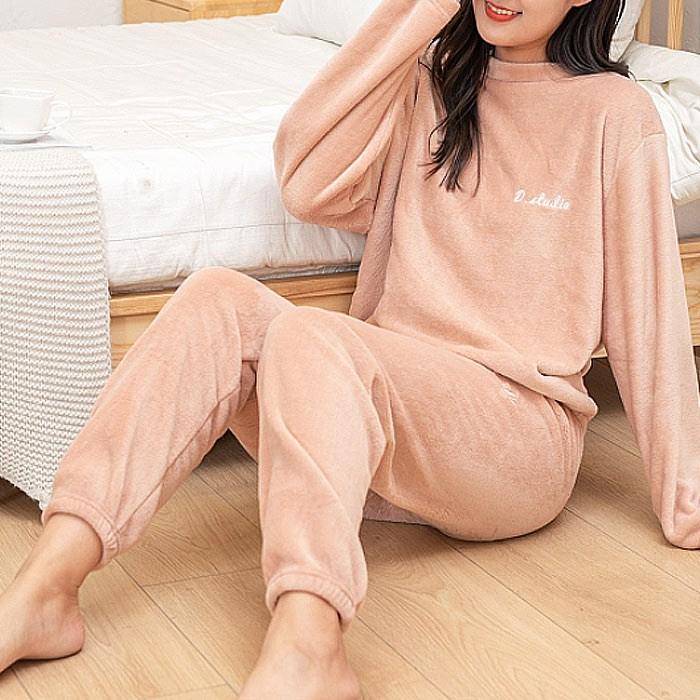 스키니어 홈웨어 이지웨어 밍크 수면잠옷세트 FN027