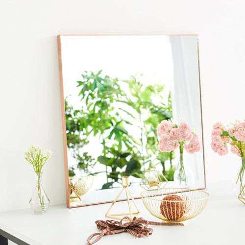 지니앤퍼니 엣지 스틸바 일반 거울, 일반직각600로즈골드