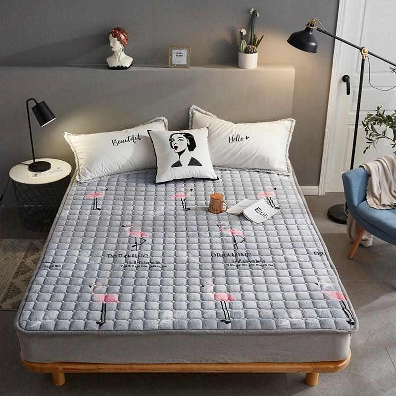토퍼 템퍼 매트리스 침구 기타 겨울 기모 쿠션 학생 기숙사 싱글 담요 침대, AA_1.2 X 2m