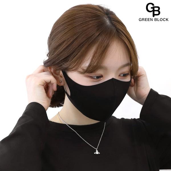 GREEN BLOCK [국내생산]그린블럭 정품 3D 연예인 마스크 패션마스크, 1개