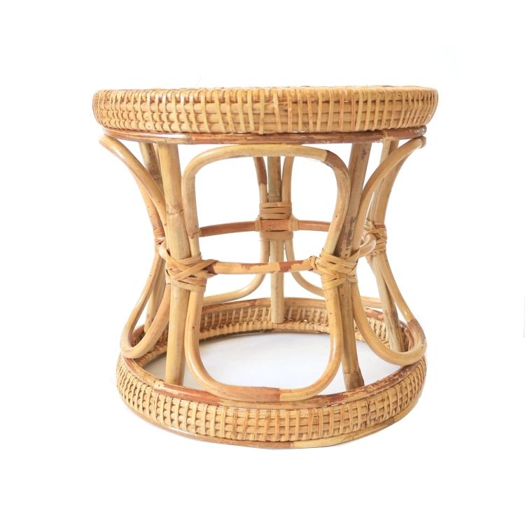 노브랜드 대나무 라탄스툴 라탄의자 의자, 폭 30cm 높이 28cm