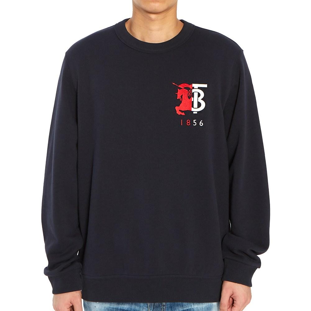버버리 컨트라스트 로고 그래픽 MUNSTONE 8022310 A1222 남자 긴팔 맨투맨 티셔츠