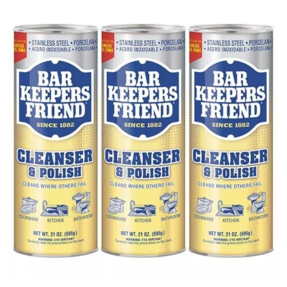 Bar Keepers Friend Powdered Cleanser and Polish 바키퍼 프렌드 찌든기름때 냄비얼룩제거 다용도 클리너 21oz(595g) 3팩