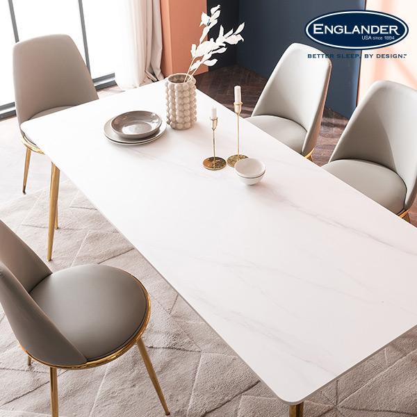 잉글랜더 오스카 마블화이트 통세라믹 6인용 식탁(의자 미포함)
