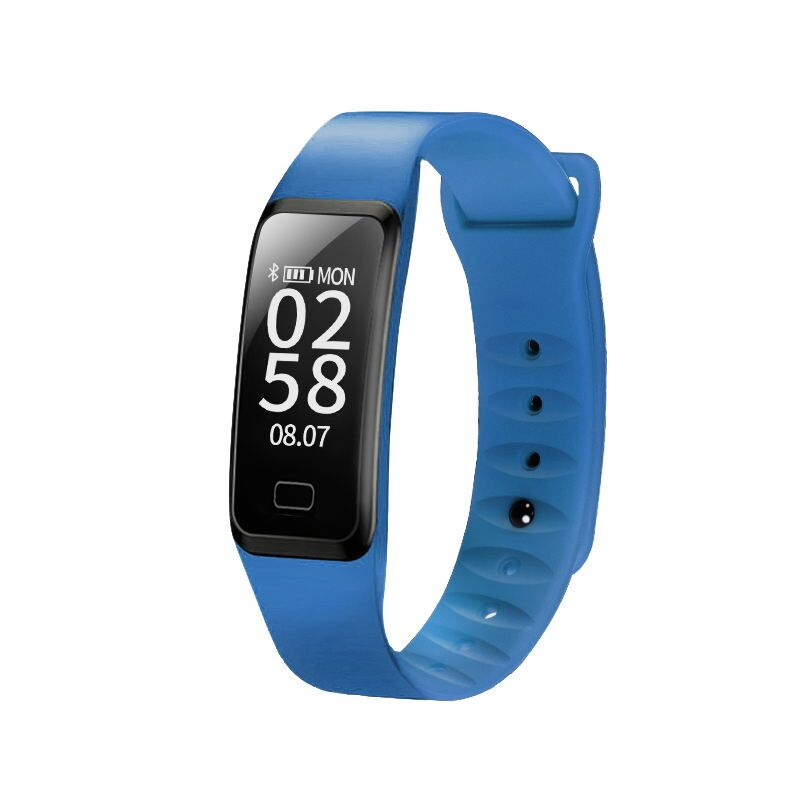 100356 스톱워치 알람시계 손목시계 스마트 방수 충전 만보기 디지털식 운동 화이트 led 다용도 전자시계 카운터 디지털 스포츠 팔찌 흰색, 단일상품, 사파이어 블루