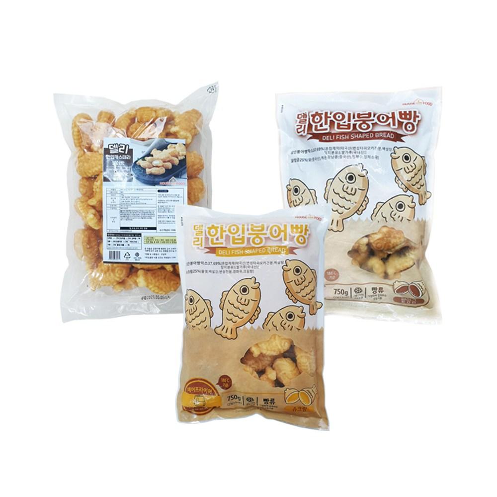델리 한입 미니 붕어빵 3종 골라담기(단팥 슈크림 카스테라 슈크림), 단팥, 1개