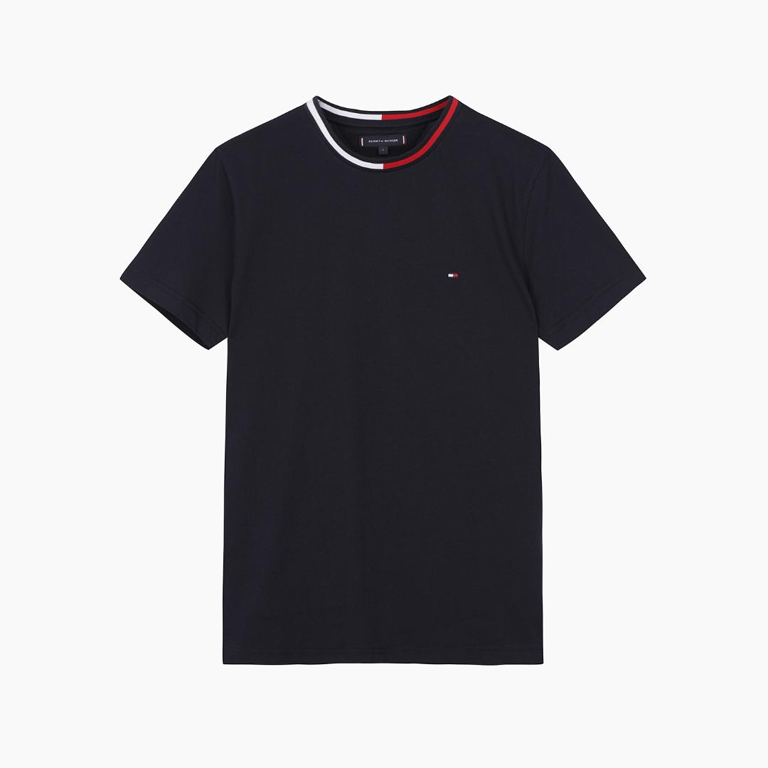 타미힐피거 [남성] 코튼 플래그 라운드넥 반소매 티셔츠 T12A6TPO100MT1 DW5
