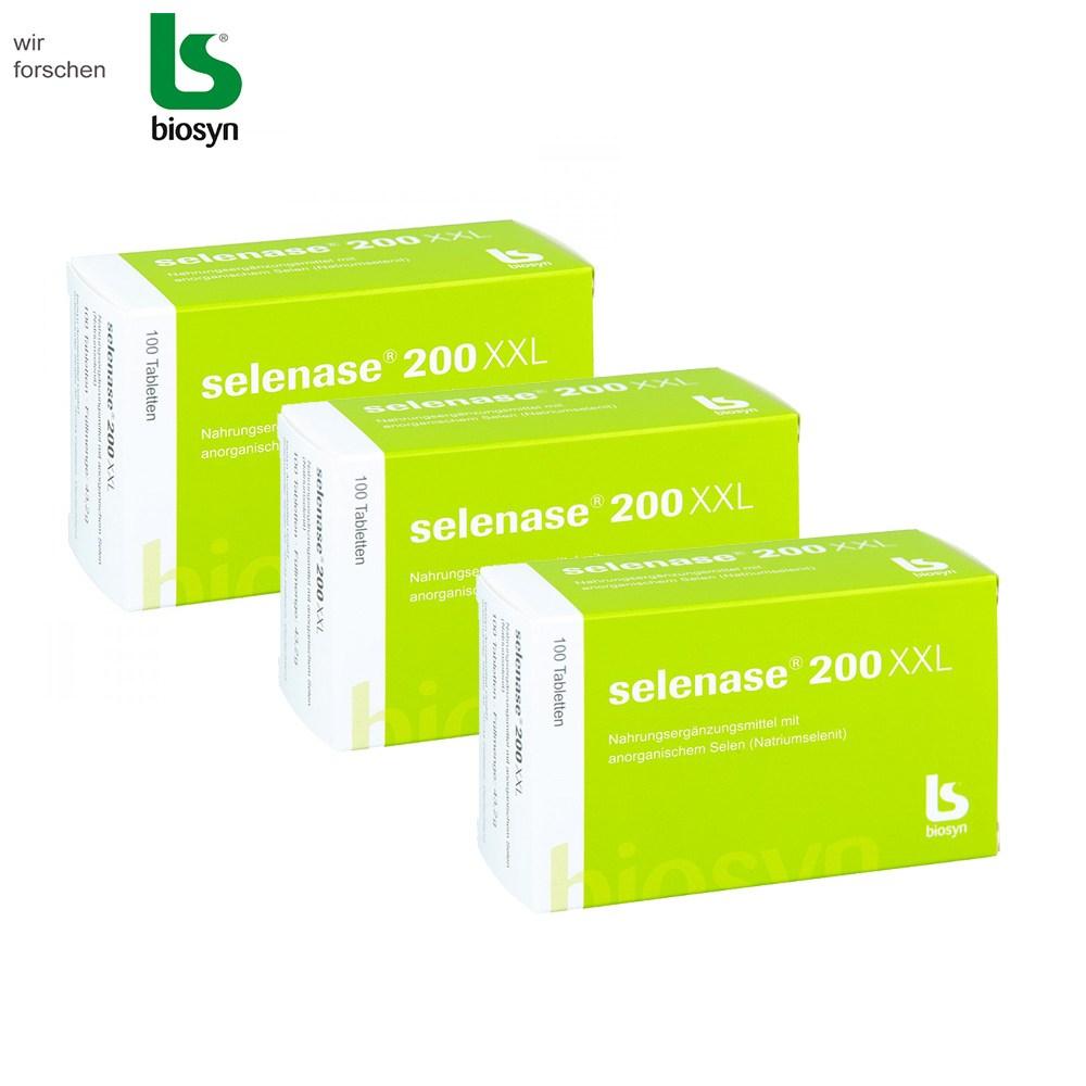 셀레나제 200XXL 셀레늄 온가족 건강식품 독일직배송, 3box