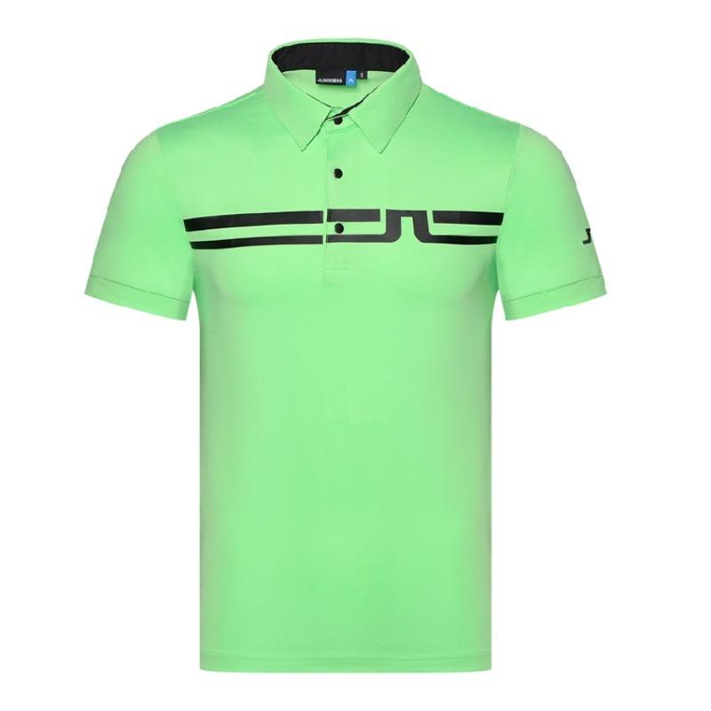 제이린드버그 JL골프 의류 남성 골프 반팔 티셔츠 폴로 셔츠, 연한 초록색