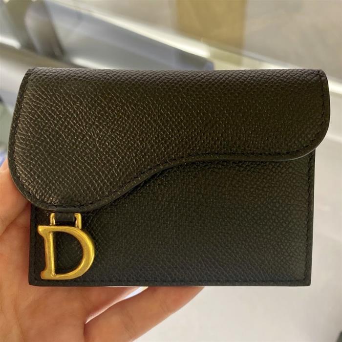 디올 S5610CBAA M900 블랙 스몰 새들 카드지갑