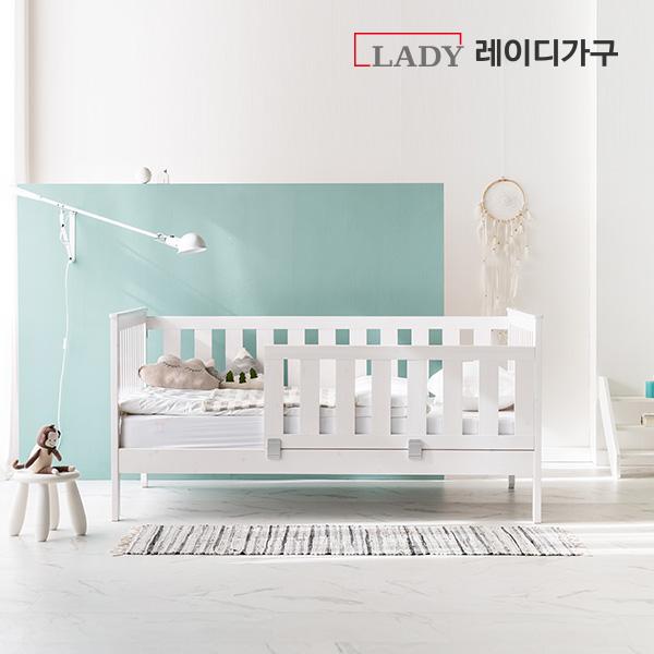 [50조한정 할인쿠폰+상품권 증정] 레이디가구 스칸딕 데일리 원목아기침대세트(데이베드+안전가드), 퓨어워시
