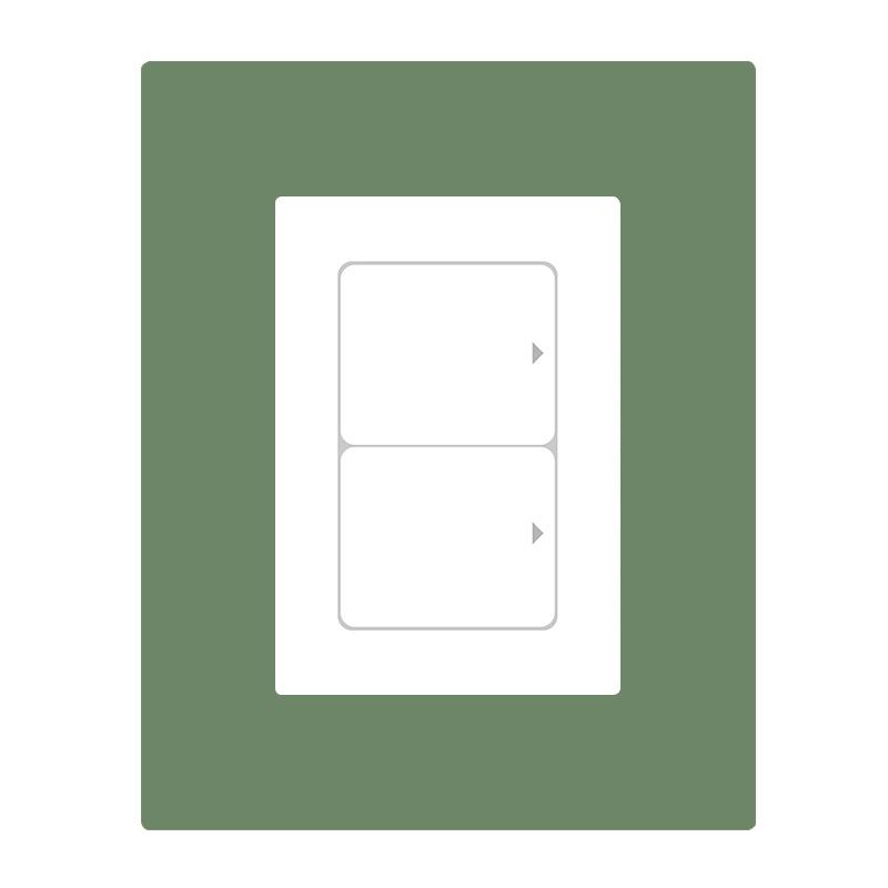 유니크시트 붙였다떼었다되는 만능점착 스위치커버6p 스티커, 스위트그린