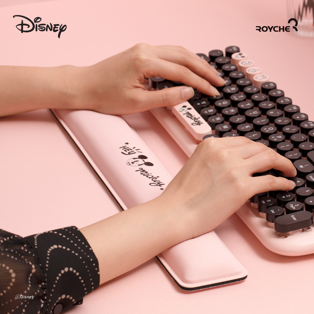 디즈니 캐릭터 키보드 마우스 손목쿠션 팜레스트 손목 받침대 보호대 패드 메모리폼, 미키마우스