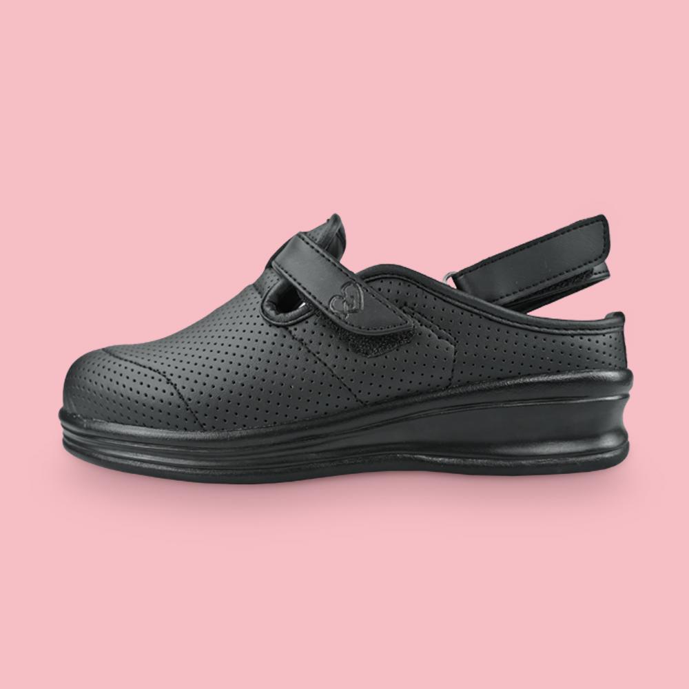 뽀너스 푹신푹신 간호사 신발 간호화 딥쿠션 샌들 블랙