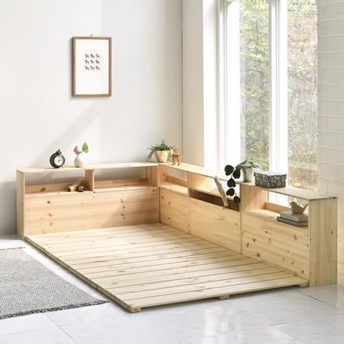 국내생산 원목 저상형 침대프레임 슈퍼싱글 퀸 킹 매트리스 깔판 받침대 (침대헤드별도)