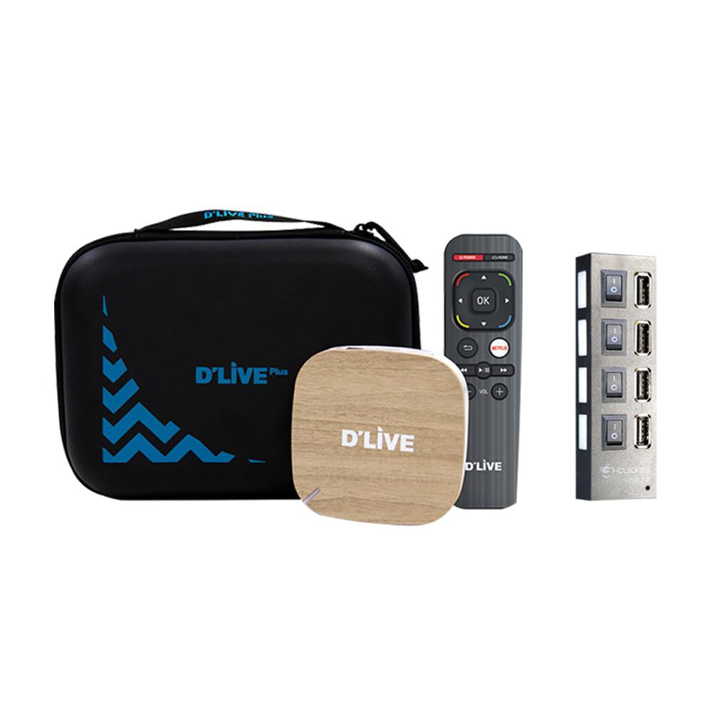 휴맥스 딜라이브H3 ONAIR-TV 넷플릭스 유튜브 WAVVE 무선미러링 모텔 팬션 원룸 4P-HUB 마스크