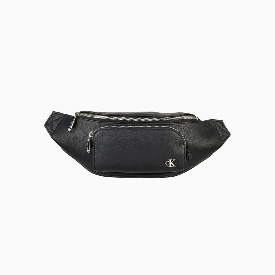 [[CK가방 30%세일!!! ]] 캘빈클라인 블랙 마이크로 프론트 포켓 슬링백