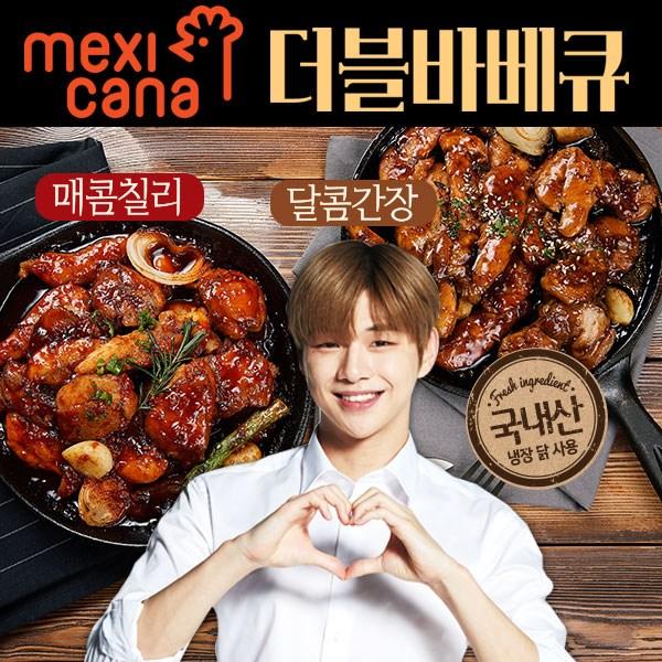 멕시카나 치킨 순살 더블 바베큐 매콤간장6+달콤간장6 12팩