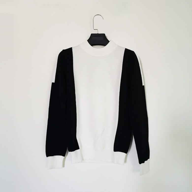 2020 W Angle 여성 골프복 가을과 겨울 여성 스포츠 긴팔, B 니트 흰색 긴 소매