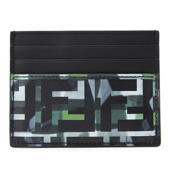 펜디 로고 카모플라쥬 7M0164 ABM9 F0X93 공용 명함/카드지갑