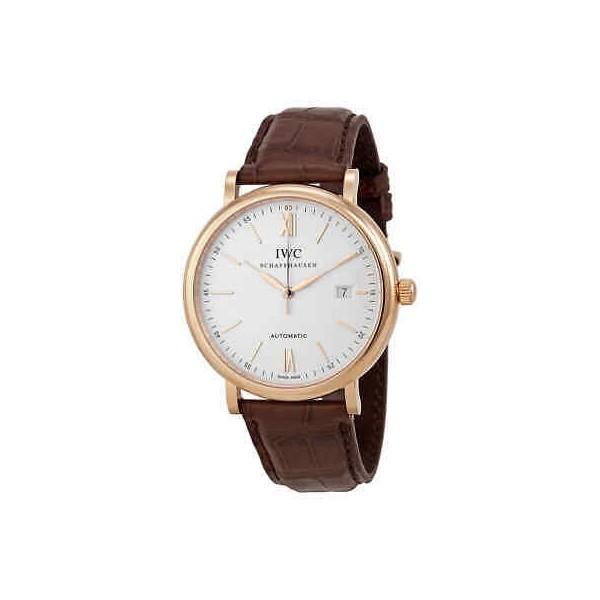 IWC Portofino Automatic Silver Dial 18kt Rose Gold Men's Watch 3565-04