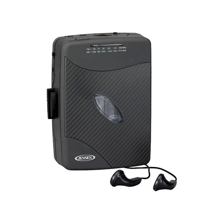 JENSEN Jensen 라디오 카세트 플레이어 휴대용 JENSEN Stereo Cassette Player with AM FM Radio Gray (SCR-75), 옵션없음, 옵션없음