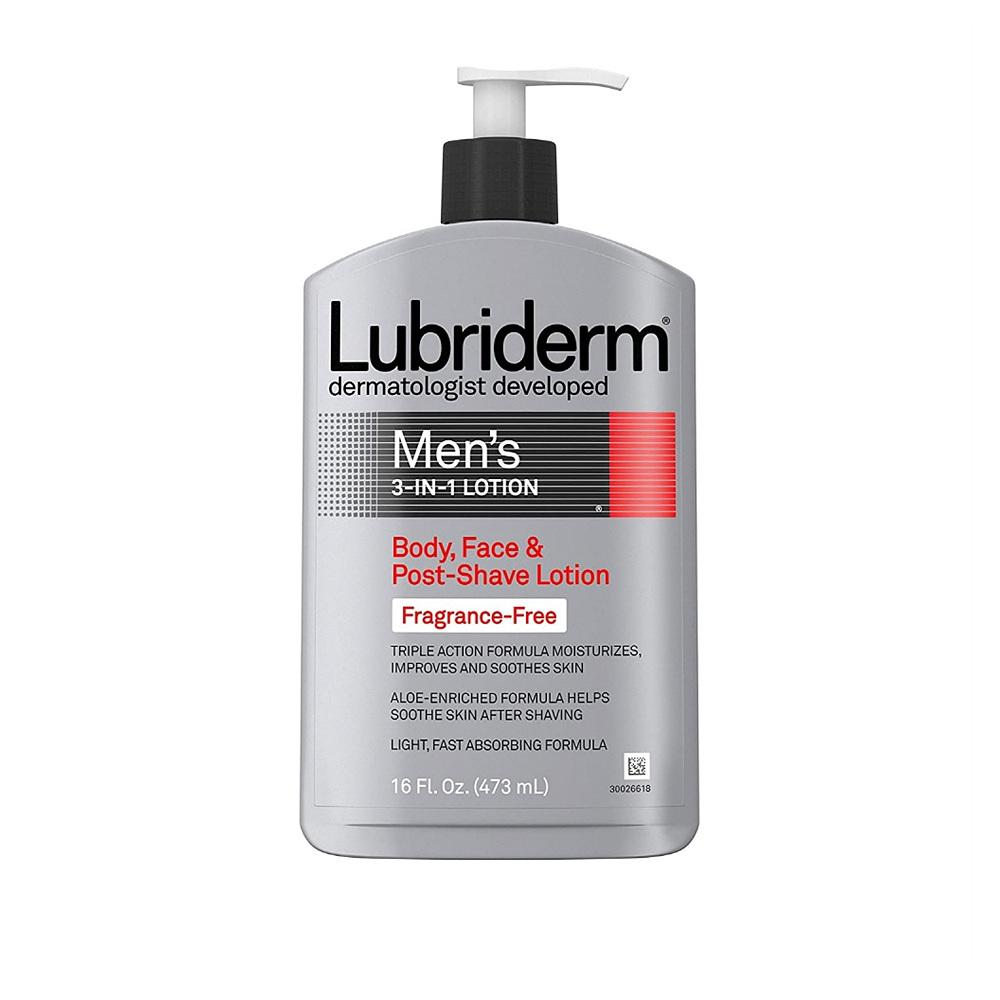 (번들) 루브리덤 맨 바디 페이스 애프터쉐이브 로션 473ml 3개 Lubriderm Men 3-In-1 Unscented Lotion