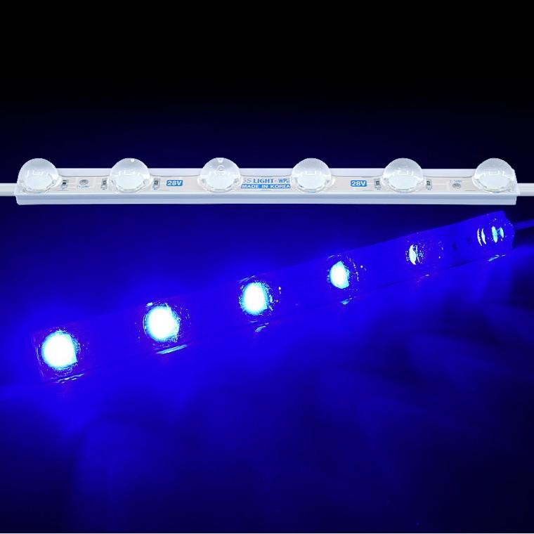 LED바 6구모듈 블루LED 국산24V용 렌즈형 5050 3칩 - (1개가격) 추천 파는곳, 상세페이지 참조