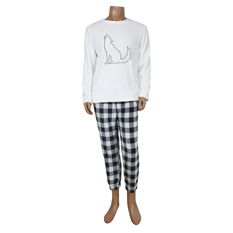 엔휴 남성 여성 밍크수면 상하세트 커플잠옷