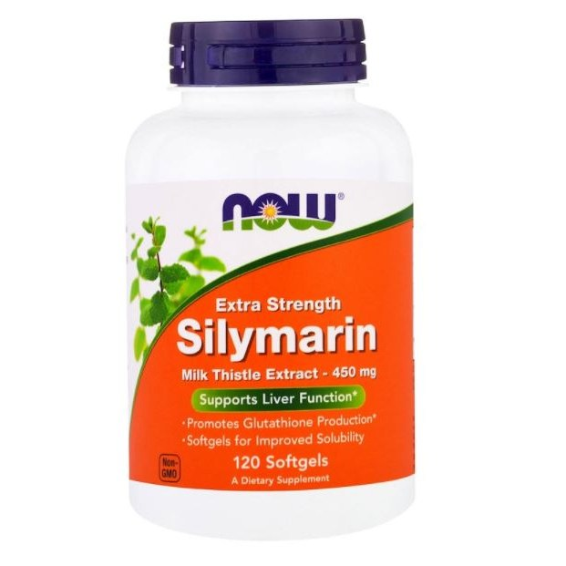 Now Foods 실리마린 밀크 시슬 추출물 450mg 120 소프트젤 / Now Foods Silymarin Extra Strength 120 Softgels, 1개