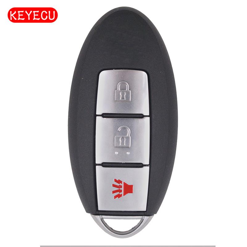 Keyecu 스마트 원격 키 fob 2 + 1 버튼 433.92 mhz 닛산 패스 파인더 fcc: s180144304, 1개