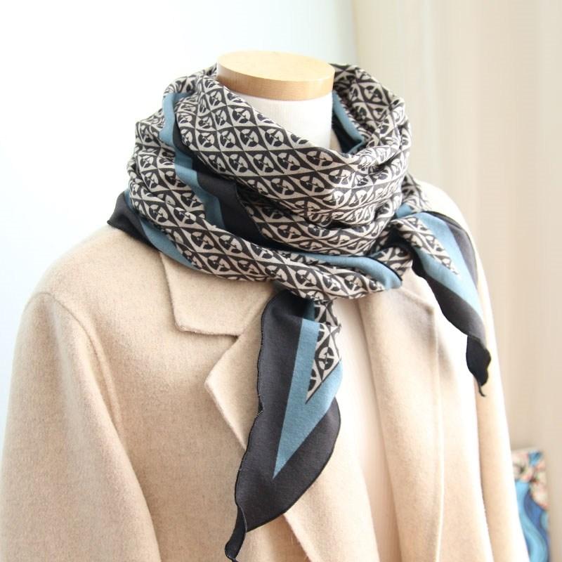 이로스데코 여성 겨울 두껍지 않아 좋은 따스하고 보드라운 얇은기모 스카프 (2컬러)