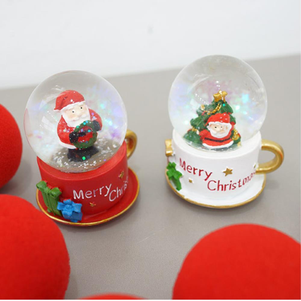 미니워터볼 크리스마스장식 2개세트 아기워터볼 유리구슬 장식스노우볼