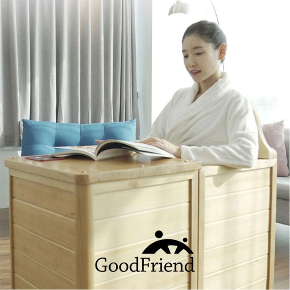 굿프렌드 GOOD-F2 가정용 홈사우나 건식 반신욕기 족욕 좌훈, 단일상품