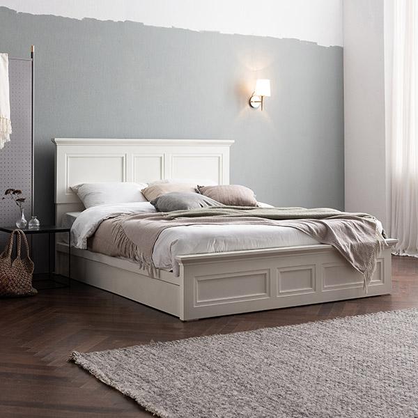 [삼익가구]프로아 아이보리 도장 침대(65T 유로탑 독립 매트리스-킹)