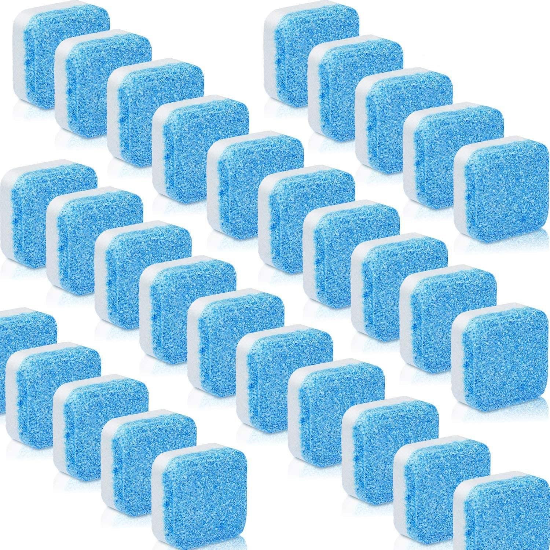 식기세척기세제 전용 린스 식세기 엘지 삼성 코스트코 밀레 욕실 주방을 위한 30 개의 PC 솔리드 클리너 태블릿 세탁기 청소기 발포성 정제 심층 청소 리무버, 단일수량