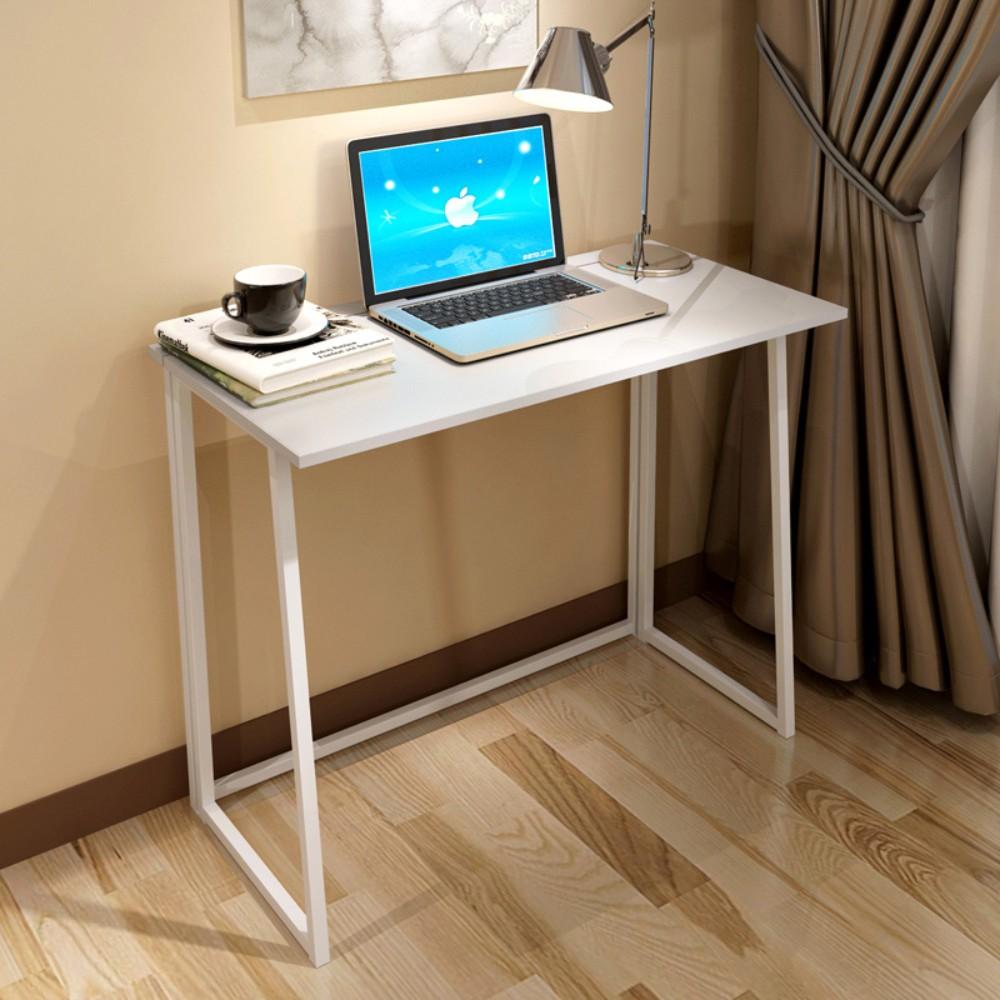 네츄럴 1인 가구 접이식 책상 초슬림 모델 원룸 자취방 접이 테이블, 접이식 책상 화이트 A 폴딩 80 X 45