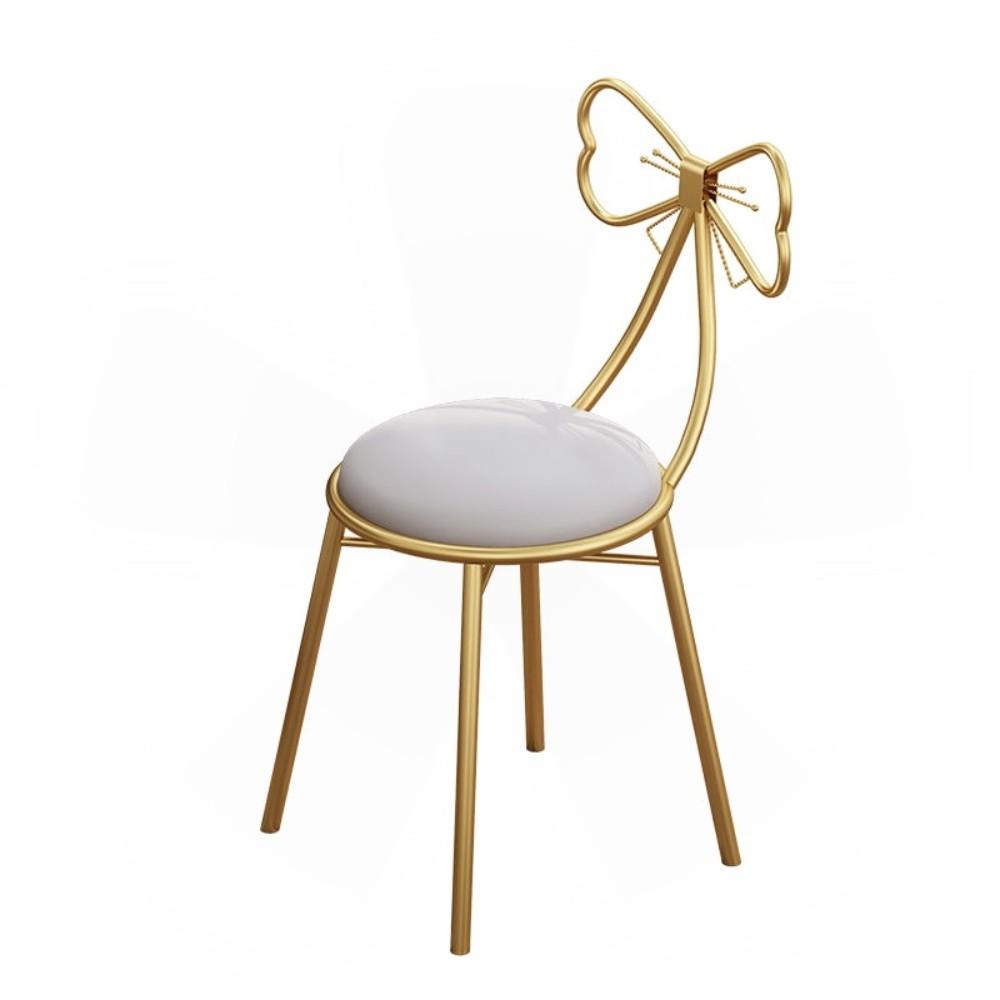 북유럽 의자 인테리어 등받이 메이크업 침실 카페 리본 화장대 거실 40대 엄마 생일 선물, B.너클 체어 그레이 가죽방석 (POP 5592945405)