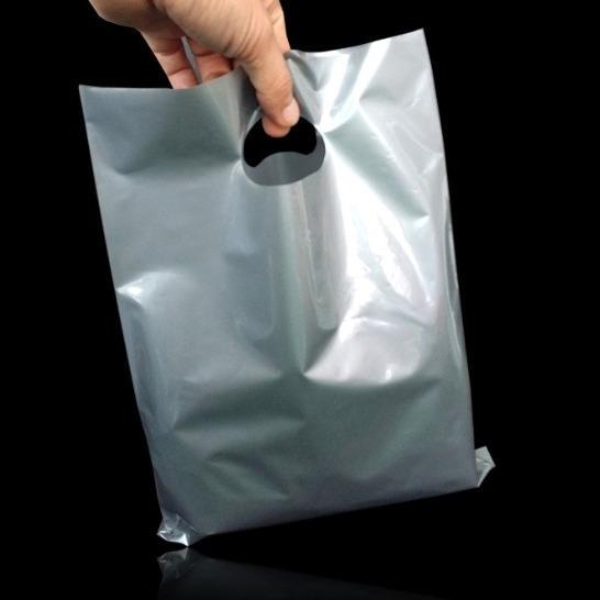 아돌포이 가벼운 다용도 좋고 고급스러운 7만원대 선물 실버 PE 쇼핑백 팬시봉투 60cmX70cm 50매 E-1092301