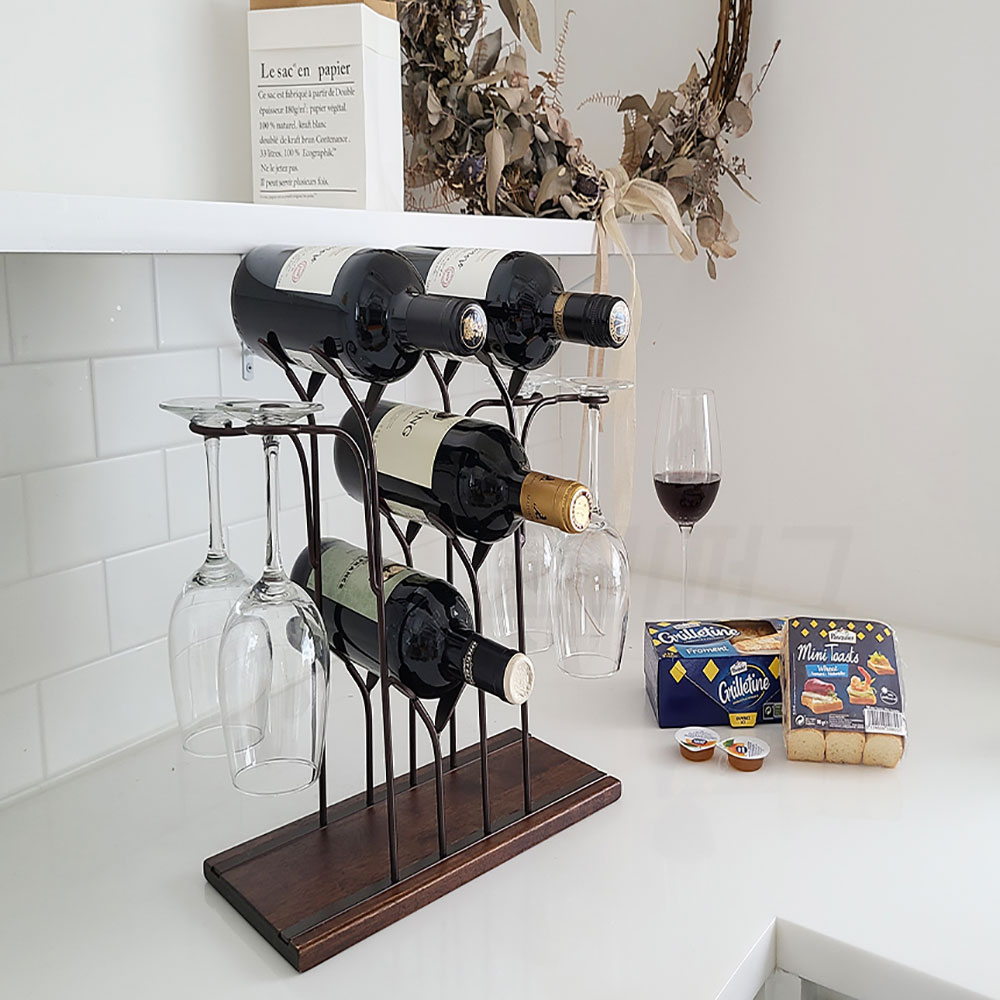 론리퍼그 4구 와인잔 거치대 와인랙