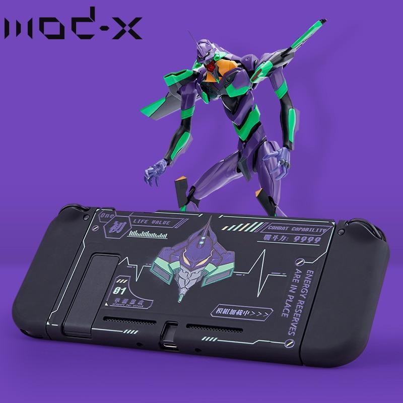 닌텐도 스위치 Nintendo Switch 뒷면 케이스 커버 용 Mod X Cartoon Design Nintendoswitch NS 케이스 Joy Con 커버 쉘 액세서리 케이스, 검정